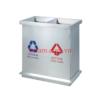 thùng rác inox 2 ngăn phân loại rác A58-I