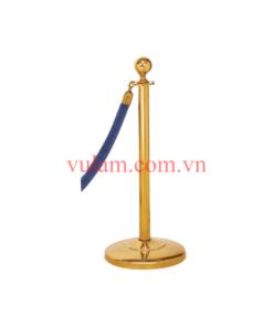 Cột chắn inox mạ vàng dây nhung VB-CT1M
